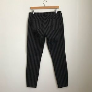 PAIGE Black and Gray striped jeans